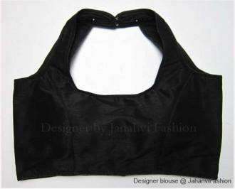 Banarsi Dupin Black Semi-Halter Style Blouse