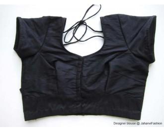 Banarsi Dupin Black Teera Style with Back Side Brocade Design