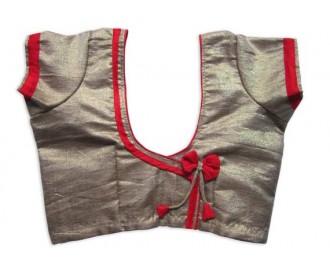 Banarsi Dupin Beige Self-Line Butterfly Design with Round Neck Teera Style