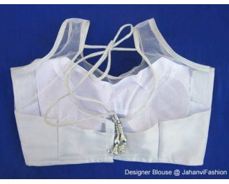 Shimmer Blouse Top Part Net Silver