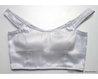 Shimmer Blouse Off Shoulder Silver