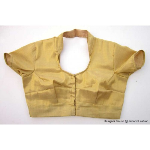 Shimmer Blouse With Collar Golden